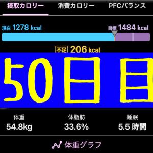 実録!ずぼらダイエット50日目