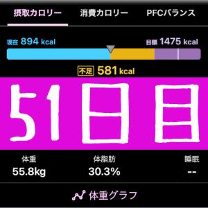 実録!ずぼらダイエット51日目