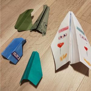 鳥人間コンテストからの飛行機作り①紙飛行機