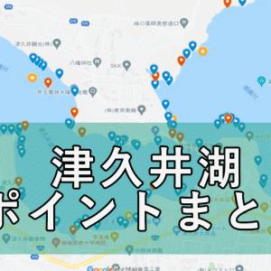 【永久保存版】津久井湖バス釣りポイントマップ作りました!