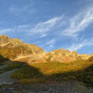 北アルプス南部、穂高連峰、涸沢岳、テント泊。