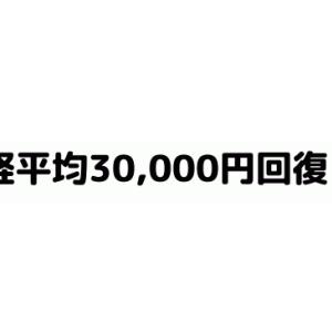 日経平均 30,000円台を回復