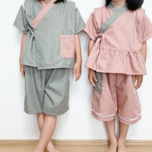 ルームウェアにも!簡単シンプルな子供用甚平の作り方【80~140㎝】 子供服の作り方
