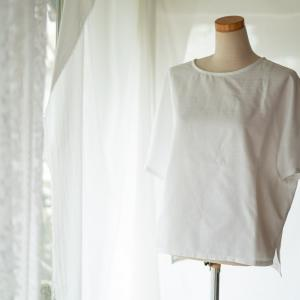 パターンレーベル布帛Tシャツを春夏におすすめの綿ポリバニラン生地で