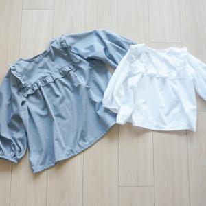 ハンドメイドベビー服enannaさんのヨークフリルブラウスの作り方【90cm〜130cm】