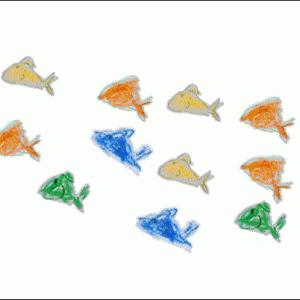 釣りに行けない日 子供が書いた魚の絵で遊ぶ gifアニメに加工して動かしてみる