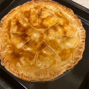 旅のお土産のりんごでアップルパイを作った