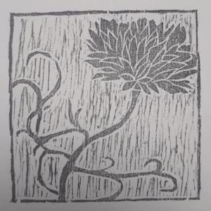 手のひらサイズの木版画