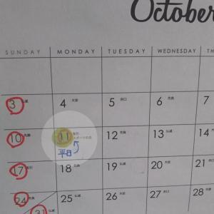 10月11日はカレンダーの上では平日ですネ