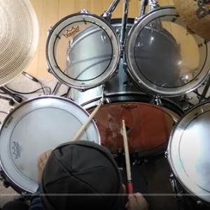 YouTube 北の宿から(都はるみ)-ドラムの演奏