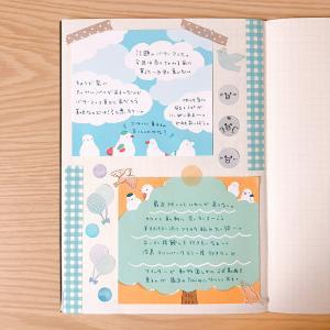 簡単!ブロックメモを貼るだけの可愛い日記デコ♪