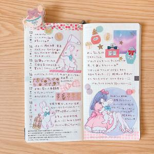 ゆめかわいいピンクデコなほぼ日weeks手帳の中身♪