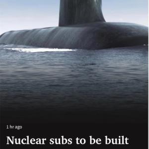 潜水艦計画に変更、原子力潜水艦を建造へ