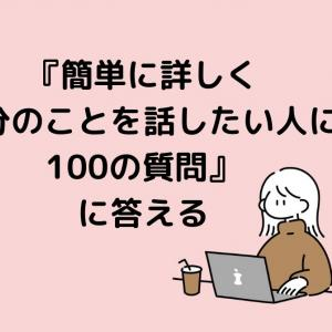 『簡単に詳しく自分のことを話したい人に100の質問』に答える