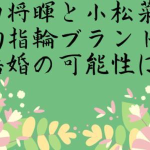 菅田将暉と小松菜奈の婚約指輪のブランドは?結婚の可能性は?