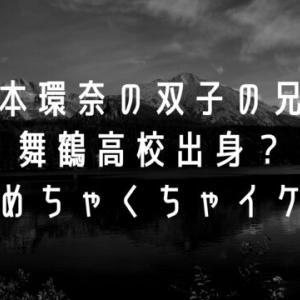 橋本環奈の双子の兄は舞鶴高校出身?しかもめちゃくちゃイケメン!
