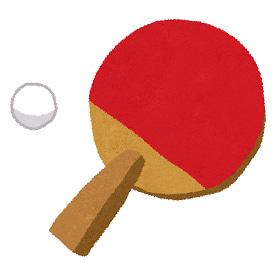 卓球のレッスン日 台を代わらない人