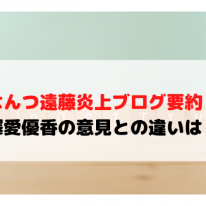 はんつ遠藤の炎上ブログ要約!梅澤愛優香の意見との違いは?