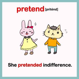 pretend-イラスト英単語