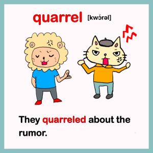 quarrel-イラスト英単語