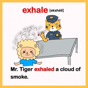 exhale-英検1級イラスト英単語