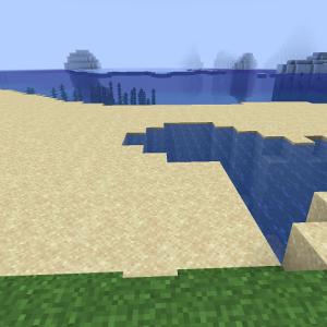 氷山を望むビーチ