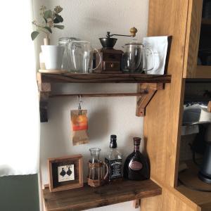 木製棚受け飾り棚リメイク…