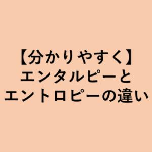 【3分で理解】エンタルピーとエントロピーの違い