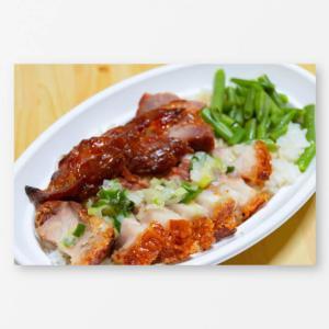 大阪 天六の美味屋で本場香港の定番グルメ焼味飯弁当(チャーシュー丼)