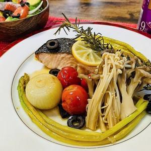 【レシピ】豪華、秋鮭とキノコの白ワイン蒸しを作ったよ