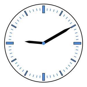 時計の針と角度