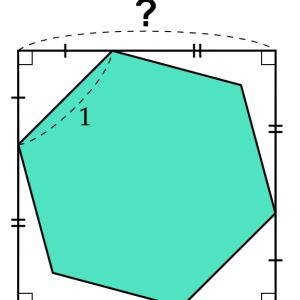 正六角形が内接する正方形の1辺の長さ