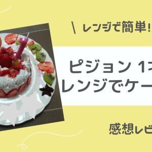 【感想】ピジョン 1才からのレンジでケーキセットで誕生日ケーキ作り!