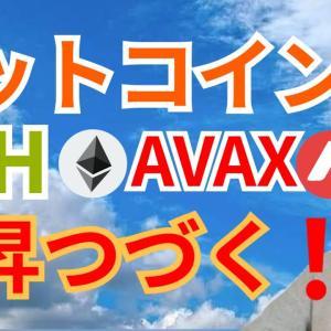 上昇つづく‼️🌠ビットコイン イーサリアム アバランチ 【仮想通貨 BTC ETH XRP IOST AVAX チャート分析】