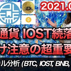 仮想通貨 テクニカル分析【9/17 今後の予想(BTC、IOST、BNB、PLT)】
