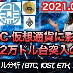 仮想通貨 テクニカル分析【9/22 今後の予想(BTC、IOST、ETH、PLT)】