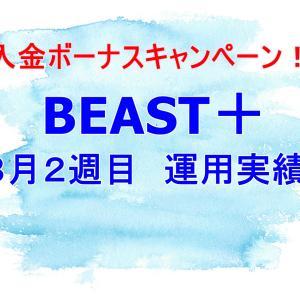 【EAシステム】BEAST+(プラス)8月第2週の運用実績。