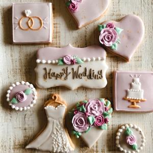 【結婚祝いのアイシングクッキー】