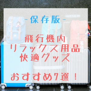 【保存版】飛行機内|リラックス用品・快適グッズおすすめ7選!