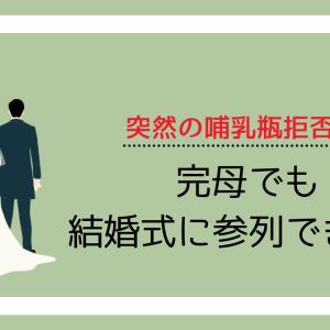 【哺乳瓶拒否で結婚式に出席】完母で参列するために必要な確認事項