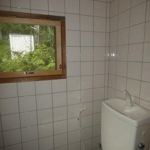 トイレ工事完成間近