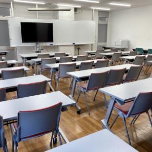 教室での初授業
