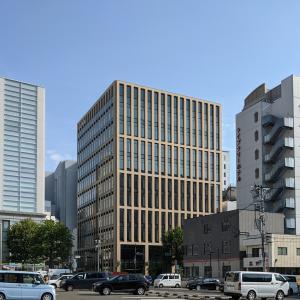 仙台の南町通り沿い新オフィスビル、「ミレーネT仙台ビル」の建設状況(2021年7月)