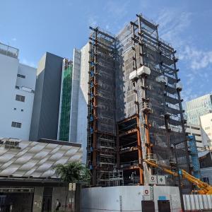 地下鉄「仙台」駅隣接!(仮称)仙台中央三丁目ビル、建設状況(2021年7月)