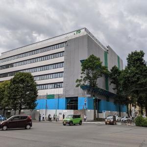 JR東日本仙台支社建て替え工事、建設状況(2021年7月)