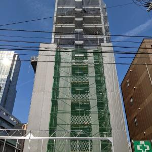 仙台朝市近く、相鉄ホテルズ直営宿泊特化型ホテル「(仮称)相鉄フレッサイン仙台西口」の建設状況(2021年7月)