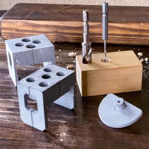 3Dプリンターで 垂直に穴を開ける 治具を作る