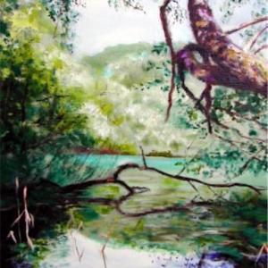 水と木と緑のある開運アート☆癒しの空間