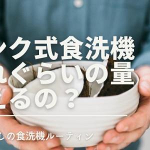タンク式食洗機ってどれぐらいの量洗えるの?