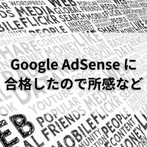 Google AdSense に合格したので所感など【アドセンス】